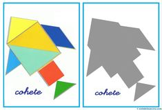 Tangram   Figuras para imprimir online Toddler Busy Bags, Toddler School, Math Games, Activities For Kids, Time Games, Folder Games, My Little Baby, Busy Book, Toddler Learning
