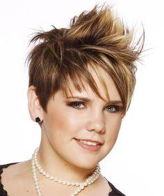 Short Mohawk Hairstyle - Straight Alternative - Medium Brunette   TheHairStyler.com