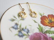Schoene Silber-vergoldete Ohrringe
