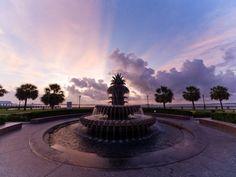 Charleston Waterfront Park - Pineapple Fountain symbolizes city's famous hospitality