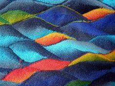 StrickRausch ... swing knitting close up