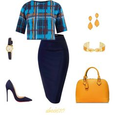 A fashion look from October 2015 by doris610 featuring Vero Moda, Christian Louboutin, Kate Spade and BCBGMAXAZRIA