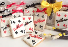 Monogrammed Playing Card Cookies   Baby Bea's Bakeshop