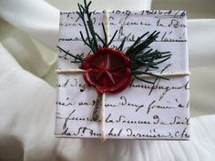 christmas box with french script from frenchblue