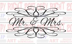 Mr. & Mrs. Wall decal clipart Sign clip art for by DavesDigitalArt