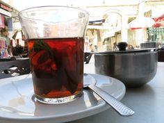 Tea, mint tea, in Jerusalem Old City a Souk.
