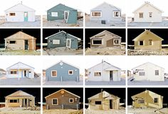 Typology of day/night cottage portraits. Photography by Douglas Ljungkvist. An upcoming book features these and other images from Douglas Ocean Beach project.
