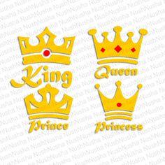 Crown SVG, DXF, PNG, eps, cdr, Vector, Digital Cut File by NushNusha on Etsy