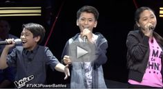 """Alfred, Kate and Al Vincent sing """"Counting Stars"""" on The Voice Kids Philippines Season 3 """"Battle Rounds"""" on Sunday, July 25, 2016."""