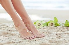Bridal beach shoes foot jewelry beach by PassionflowerJewelry, $24.00