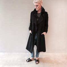 That time our online manager fell in love with the Habor Coat. Get the look online and in store!