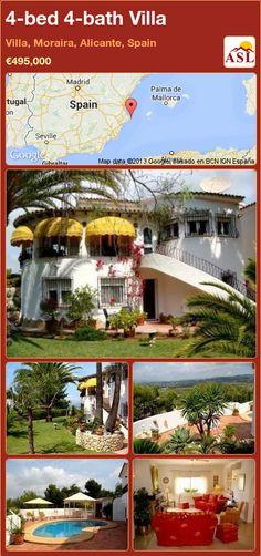 4-bed 4-bath Villa in Villa, Moraira, Alicante, Spain ►€495,000 #PropertyForSaleInSpain