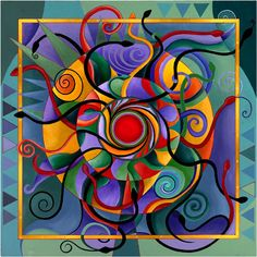 Serpentine Fire  This is a newer painting of an older style showing how a mandala unfolds into a life of its own. Serpentine Fire came into being by simply being in flow with the Divine Feminine.