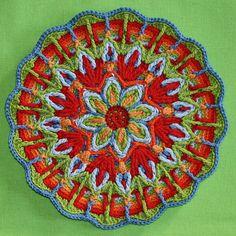 Mandala No 1  Overlay Crochet   Pattern  PDF by CAROcreated, €4.50
