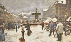 Gammeltorv 1901 - Paul Fischer