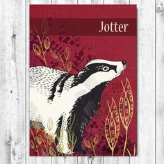 Stationery Gifts for a Happy & Creative Christmas. Cute jotter decorated with a retro-inspired Badger illustration. Designed by Jill White of Rocket68 Cards this is a cool mini gift or stocking filler that stationery addicts and wildlife fans will adore.