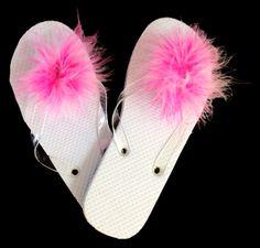 """SCCM28 Marabou Shoe Clip Multi 3 1/2"""" Diameter 1 Pair SHOP FEATHERS: www.featherplace.com"""