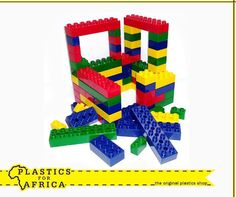 Don't pay a fortune for your kid's building blocks, head over to your nearest #PlasticForAfrica store, we stock a wide range of #plastic building blocks in a variety of sizes.