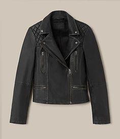 All Saints Women's Cargo Leather Biker Jacket