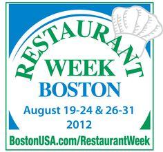 Restaurants Participating in the 2012 Restaurant Week Boston