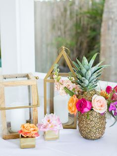 5 Fun Ways to Incorporate Pineapples into Your Wedding | Photo by: Michelle March Photography | TheKnot.com