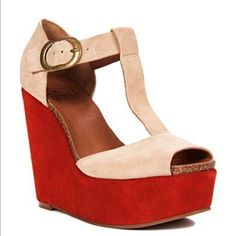 6d0a3a8b7c Lucky Brand Sandy Color Block Wedges Size 7.5 Platform Wedges Shoes, Wedge  Shoes, Shoes