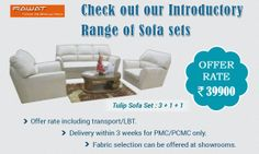 Introductory offer on Sofa sets