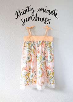 30 minute sundress with Free Pattern