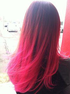 Pink ombré elumen goldwell