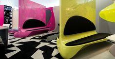 O designer egípcio Karim Hashid mostra suas criações no Salão do Móvel de Milão 2014 (DIVULGAÇÃO)