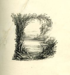 Series of 26 landscape scenes shaped as letters of the alphabet; rebound in a 20th-century binding. Letter A: upper part composed of three f...