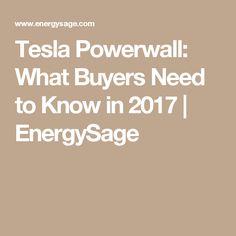 Tesla Powerwall: What Buyers Need to Know in 2017 | EnergySage