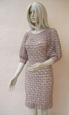 Crocheted dress made to order crochet handmade by dosiak on Etsy
