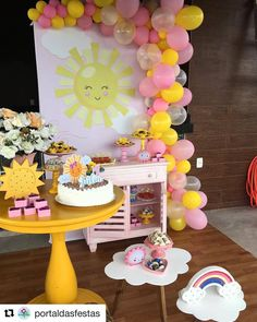 Baby Shower Ideas For Girs Decorations First Birthdays Ideas Baby Shower Ideas For Girs Decorations First Birthdays Ideas Sunshine Birthday Parties, Summer Birthday, 1st Birthday Girls, Pink Birthday, Diy 1st Birthday Decorations, Birthday Party Themes, Pink Lemonade Party, Sunshine Baby Showers, Birthday Presents For Her