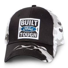 f89ce63b0a8de Built Ford Tough Black Camo Flame Hat