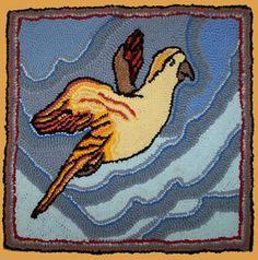 Flying Parrot : Lewis Creed rag rug