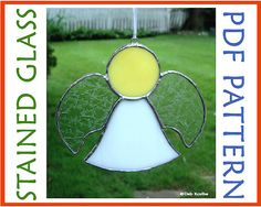 Stained Glass Pattern Little Angel Suncatcher PDF