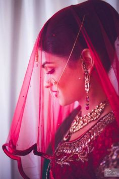 a gorgeous bridal ghoonghat!  #IndianWedding #photography #ideas | curated by Witty Vows - The ultimate guide for the Indian Bride | www.wittyvows.com