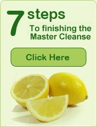 how to do  the master cleanse