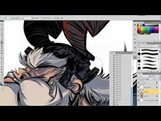 Watch how this fearless warrior of the northern seas came to be. Sketching and inking in SketchBook Pro and col. Sketchbook Pro, Digital Art, Digital Paintings, Sketches Tutorial, Logo Design, Graphic Design, Painting Videos, Vikings, Step