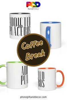These funny and colorful mugs are great gifts for anyone that could use a caffeine boost and a smile. Coffee, tea or any flavored drink, hot or cold. Hallway Decorating, Decorating Small Spaces, Decorating Tips, Apartments Decorating, Rental Decorating, Presents For Teachers, Funny Inspirational Quotes, Home Decor Accessories, Decorative Accessories
