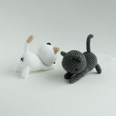 Ravelry: Neko Atsume: Free Playing Cat Amigurumi Pattern pattern by J. Gato Crochet, Crochet Mignon, Crochet Fox, Crochet Patterns Amigurumi, Amigurumi Doll, Crochet Crafts, Crochet Dolls, Crochet Projects, Afghan Crochet