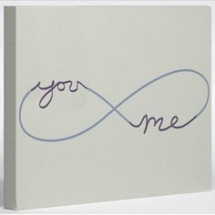 Infinite You & Me Canvas--- would love to make this for our bedroom!