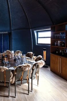 We love this cosy interior design in the dinig room pod at Whichaway Camp. Stay at Whichaway Camp on your next African adventure safari to Antarctica. Cosy Interior, Interior Design, Antarctica, Luxury Travel, South Africa, Safari, African, Adventure, Room