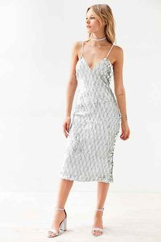 Dress The Population Nina Sequin Bodycon Midi Dress - Urban Outfitters