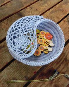 "Yin yang jewelry dish 4""+6"". pattern & finished product by goolgool"