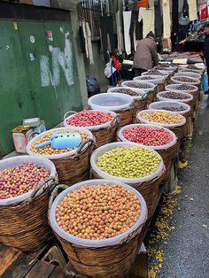 Olives: Street market, Esenler, Istanbul. #travel
