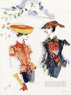Christian Berard, Chanel et Lelong High Fashion Promo, 1944