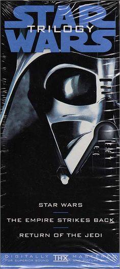 Star Wars Trilogy 1995 VHS Box Set Spine Cover