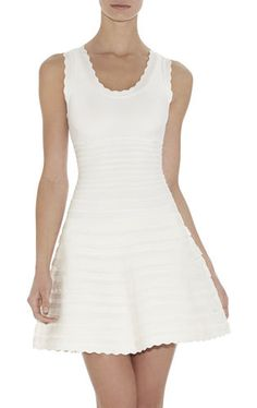Jules Scalloped A-Line Bandage Dress | Herve Leger